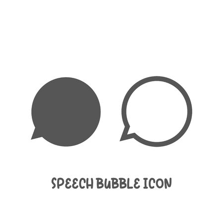Speech bubble icon simple silhouette flat style vector illustration on white background.