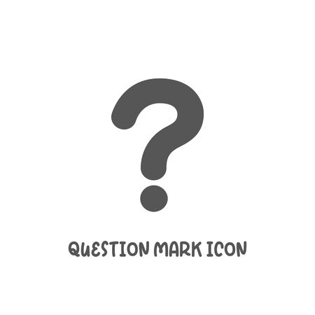 Question mark icon simple silhouette flat style vector illustration on white background. Illustration