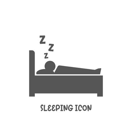 Sleep icon simple silhouette flat style vector illustration on white background.