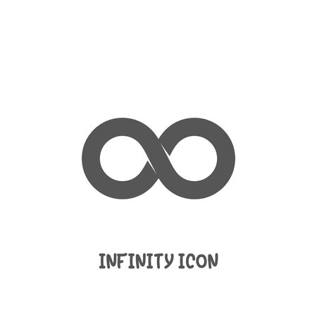 Infinity icon simple silhouette flat style vector illustration on white background.
