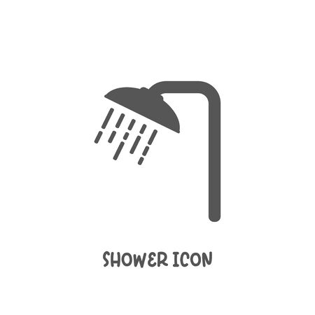 Shower icon simple silhouette flat style vector illustration on white background.