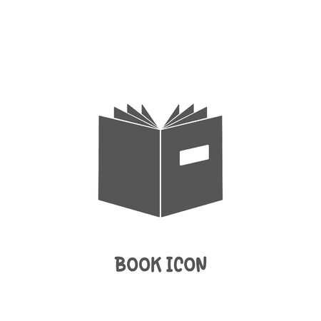 Book icon simple silhouette flat style vector illustration on white background. Illustration