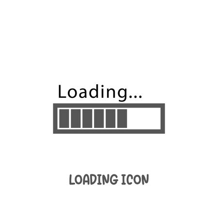 Loading bar progress icon simple silhouette flat style vector illustration on white background. Reklamní fotografie - 137771827