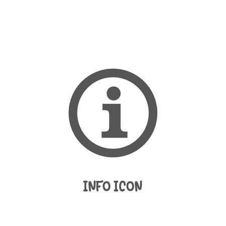 Info icon simple silhouette flat style vector illustration on white background. Illustration
