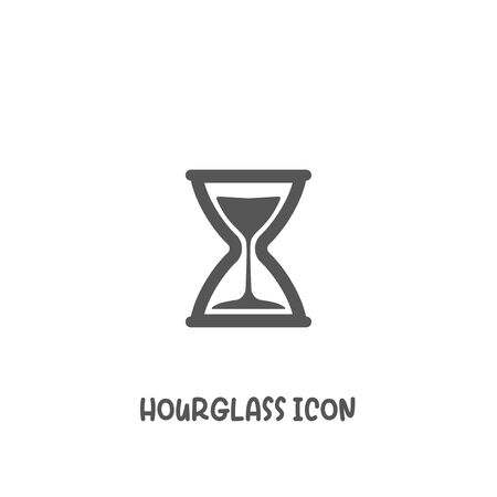 Hourglass icon simple silhouette flat style vector illustration on white background.