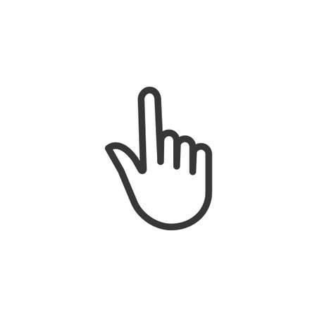 Hand pointer outline icon simple silhouette flat style vector illustration on white background. Vecteurs