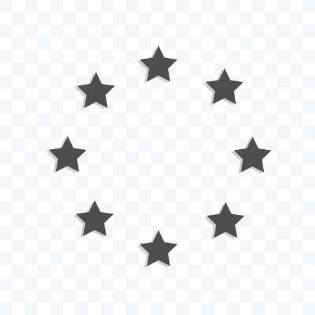 Stars in circle form icon vector illustration isolated sign symbol - black and white style in transparent background.