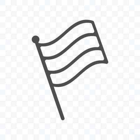 Flag stripes icon vector illustration isolated sign symbol - black and white style in transparent background.