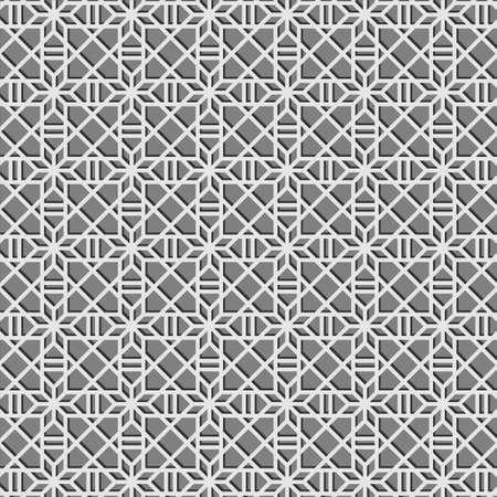 Geometric gray pattern background texture vector illustration. Ilustração