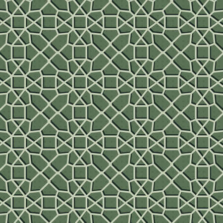 Geometric green pattern background texture vector illustration. Ilustração