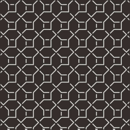 Geometric black pattern background texture vector illustration.