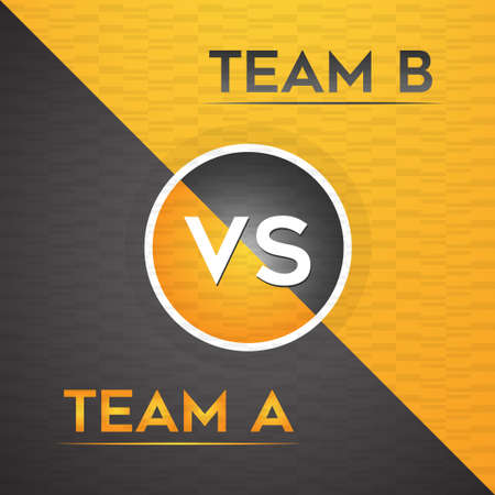 Competition black and orange versus team background vector illustration. Imagens - 165909801