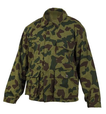 insulated: Camouflage jacket isolated on white background
