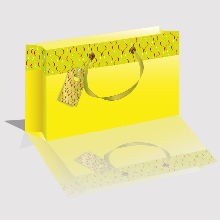 paper package of yellow color  Vector