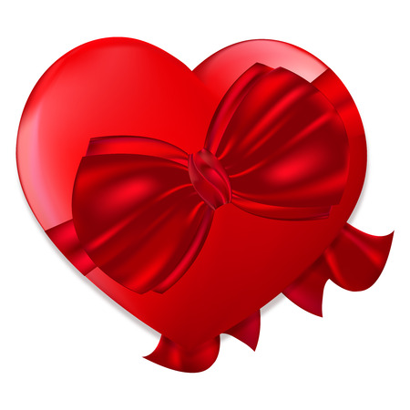 red, cardiac gift to the loving couples for Your design Vector