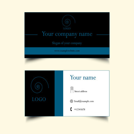 ides: business card template Illustration