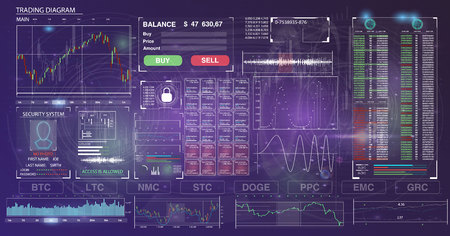 User interface of the Crypto currency template