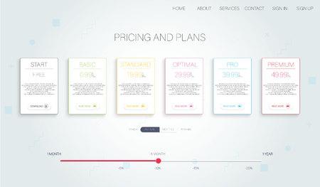 Tariff. Tariff, great design for any purposes. Data storage.