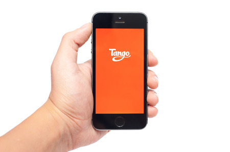 gmail: Pavlograd, Ukraine- October 25, 2014: Tango is a free messaging service that allows you to connect, get social, and have fun