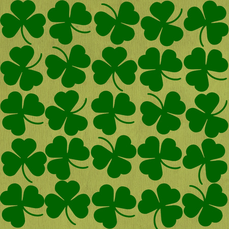 St. Patricks day background in green colors. Seamless pattern photo