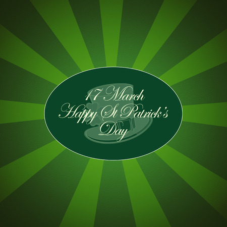 four leafed: Saint Patricks Day Typographical Background