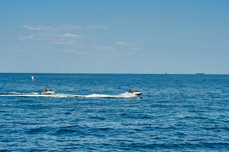 personal watercraft: Two watercraft on the sea