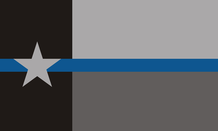 USA Texas Police Flag. Vector EPS 10
