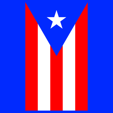 Vertical flag of Puerto Rico. Vector EPS 10 Illustration