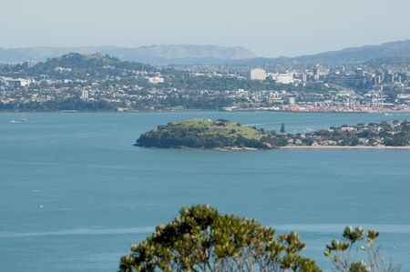 North Head and Auckland City View from Rangitoto Island