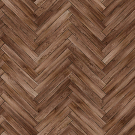 Seamless wood parquet texture (herringbone brown) Stock fotó