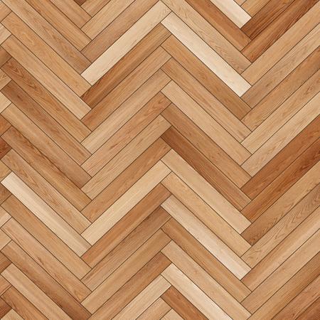 Seamless wood parquet texture (herringbone sand color) Reklamní fotografie - 80028249