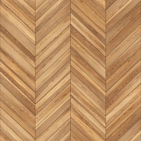 Naadloze houten parket textuur chevron lichtbruin