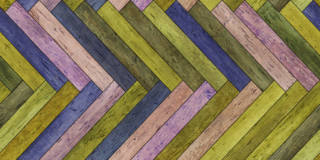 Seamless wood parquet texture horizontal herringbone colorful old Imagens