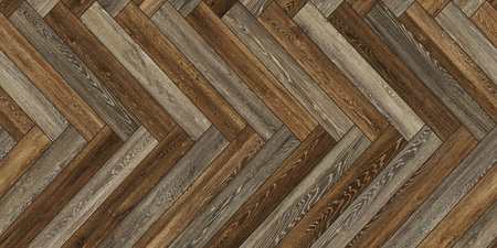 Seamless wood parquet texture horizontal herringbone brown common Stockfoto