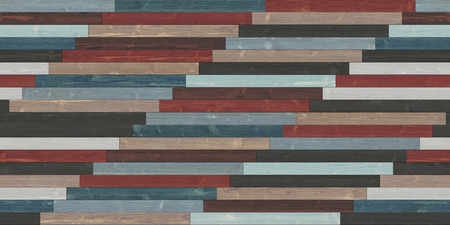 Seamless wood parquet texture (linear colorful)