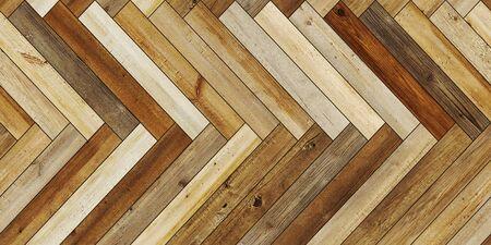 Seamless wood parquet texture horizontal herringbone various brown Reklamní fotografie