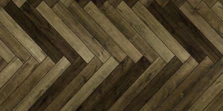 Seamless wood parquet texture horizontal herringbone deep green