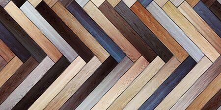 Seamless wood parquet texture horizontal herringbone various
