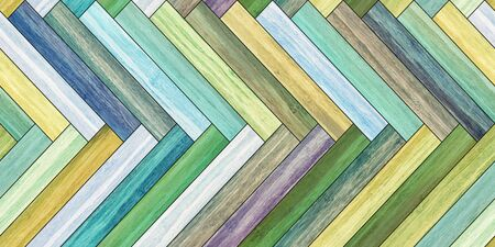 Seamless wood parquet texture horizontal herringbone colorful Фото со стока