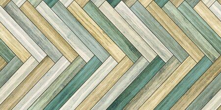 Seamless wood parquet texture horizontal herringbone colorful Reklamní fotografie