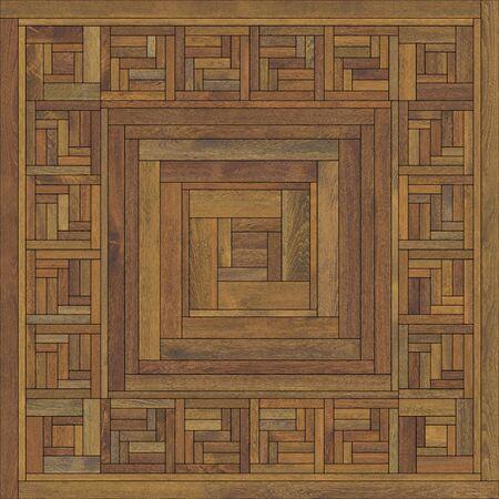 Seamless square tiles wood parquet various brown Reklamní fotografie