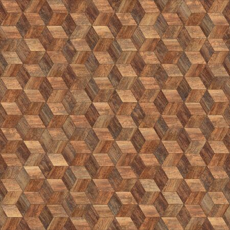 Seamless wood parquet texture hexagon 3d Фото со стока