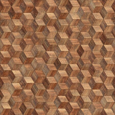 Seamless wood parquet texture hexagon 3d 写真素材