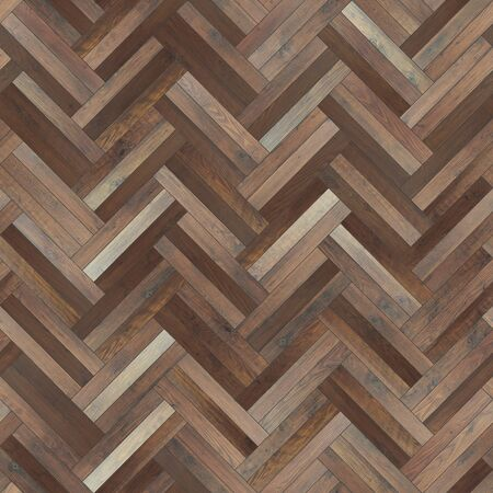 Seamless wood parquet texture herringbone dark brown Фото со стока