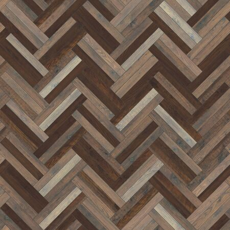 Seamless wood parquet texture herringbone dark brown 写真素材