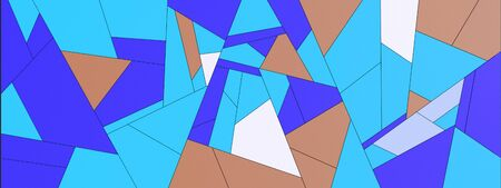 Stylized simple colorful geometric abstract patterns