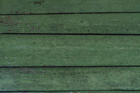 Old green painted planked wood Standard-Bild