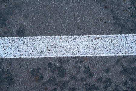 New asphalt with white stripe