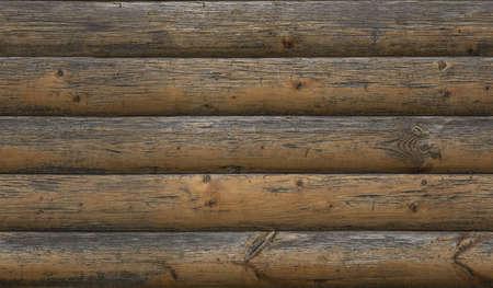 Seamless planked wood house facade texture Standard-Bild