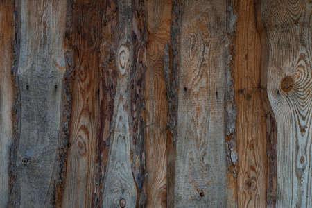Old natural untreated wood planks Standard-Bild